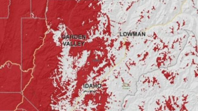 One person has used 'text 911' in Boise County. Could that ... on sprint coverage in idaho, best cell coverage in idaho, verizon wireless map idaho, cricket coverage map idaho, time warner cable coverage map idaho,