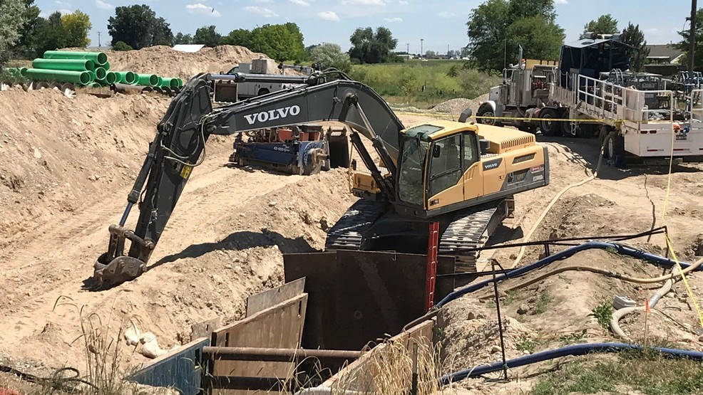 Worker injured after trench collapses on construction site