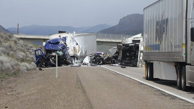 OSP: One killed after two separate semi crashes on I-84 in eastern