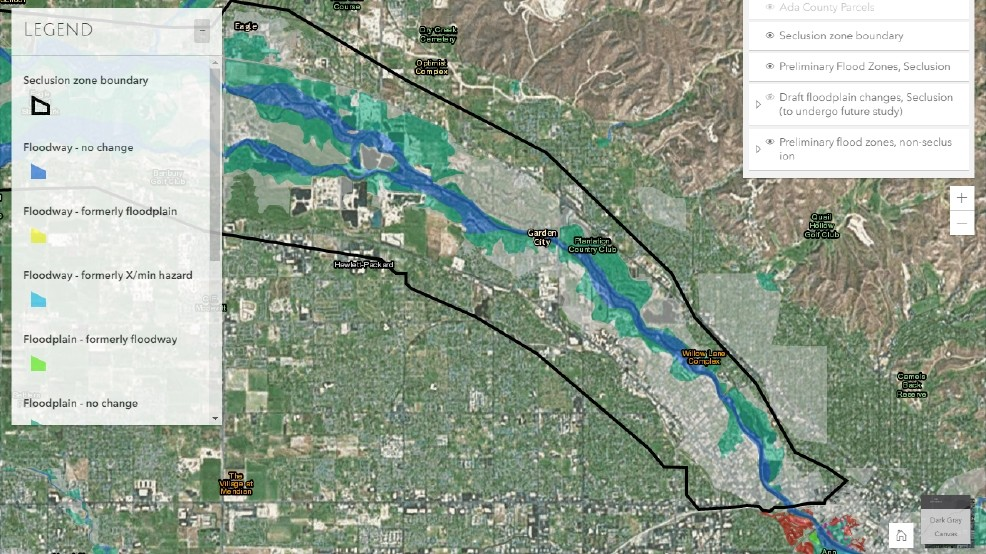 Are You In A Floodrisk Area Better Check After Ada County Updates - Historic fema flood maps