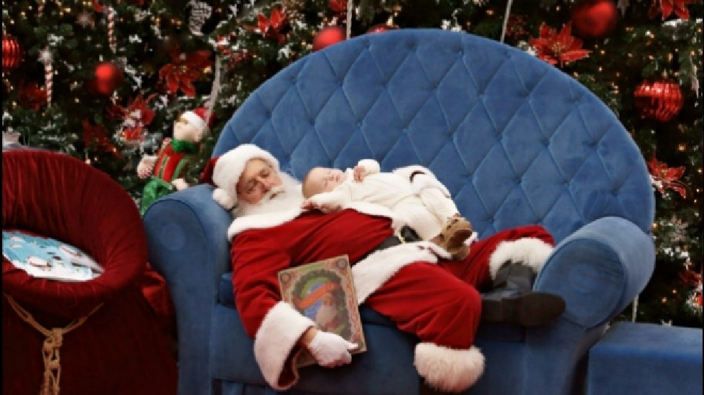 Local 'Sleeping Santa' photo going viral on Facebook | KBOI