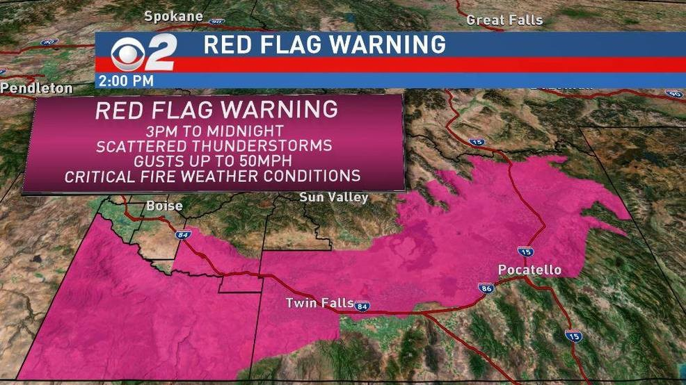 Red Flag Warning in effect for Owyhee Mtns, Western Twin